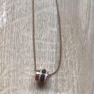 Swarovski necklace rose gold